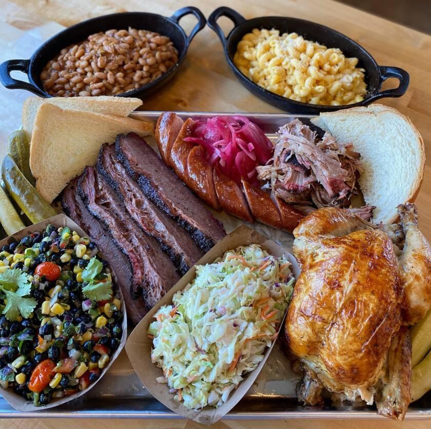 A full barbecue feast from Smokey & The Brisket in La Mesa