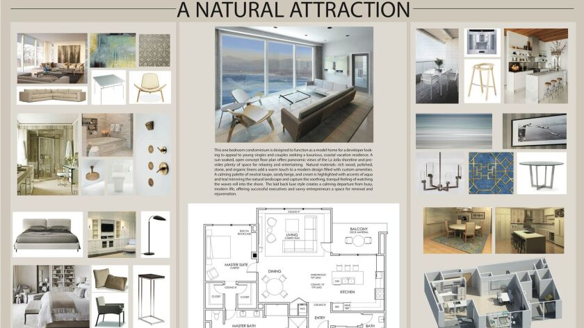 Detail view of Jennifer Pranskevich's design plan for a condo vacation home. It won an Andyz award.