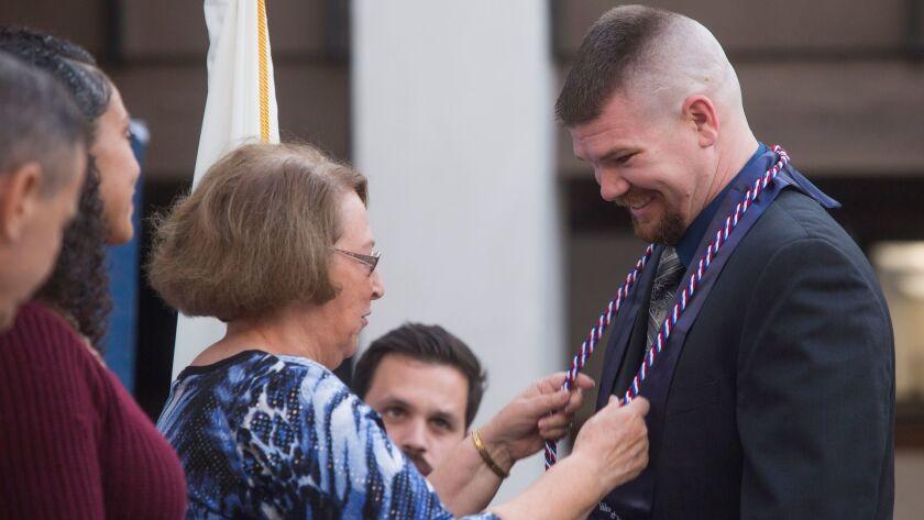 Vanguard University honors 17 graduating veterans with military