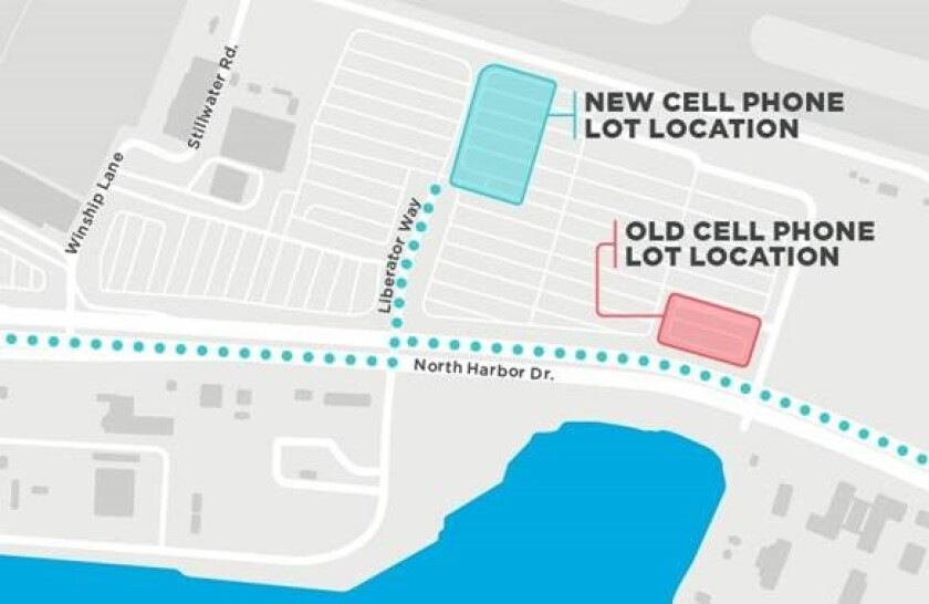 New cell phone waiting lot location