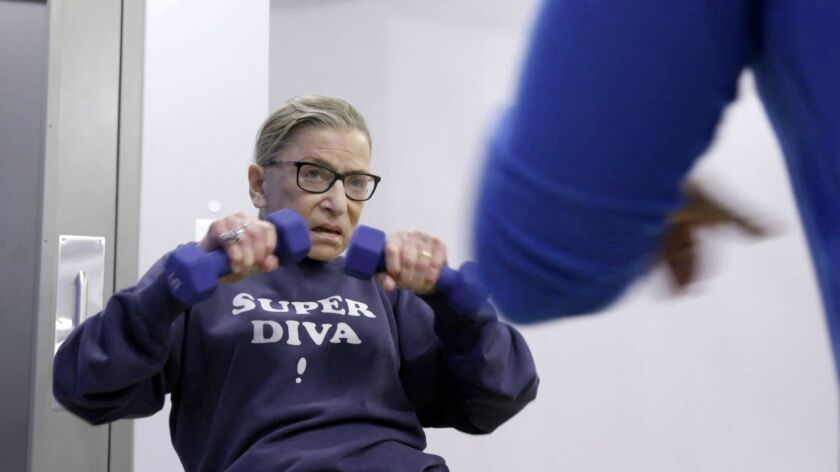 This image released by Magnolia Pictures shows U.S. Supreme Court justice Ruth Bader Ginsberg in a s