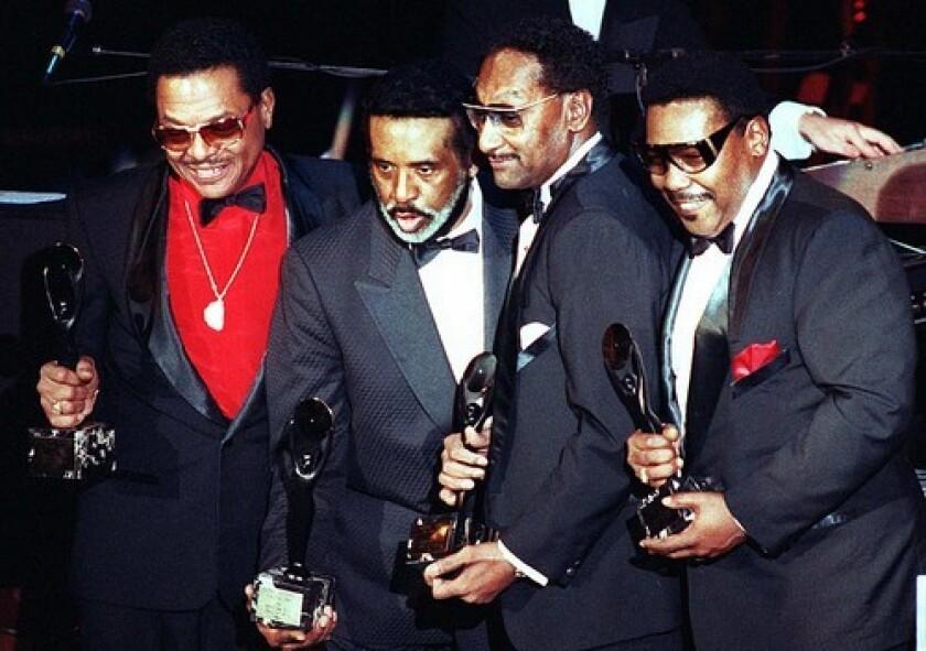 The Four Tops in 1990, from left, Renaldo 'Obie' Benson, Levi Stubbs, Abdul 'Duke' Fakir and Lawrence Payton. Benson died in 2005, Payton in 1997.