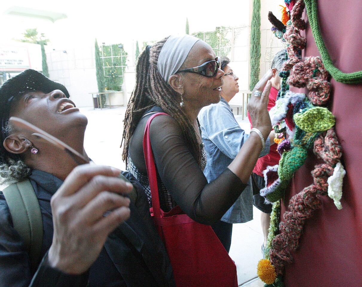 Photo Gallery: Yarn Bombing Los Angeles brings Re-Entry project to Alex Theatre
