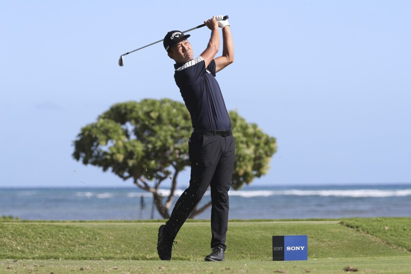 Kevin Na competes during the third round of the Sony Open on Saturday.
