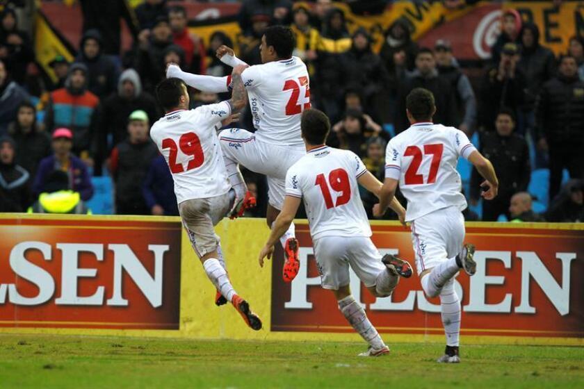 En la imagen, jugadores de Nacional de Uruguay. EFE/Archivo