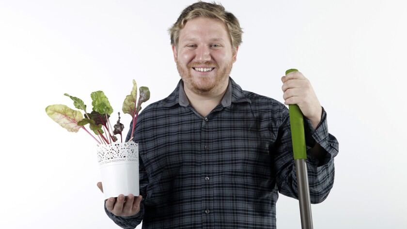 Devon Lantry, founding member of Eat San Diego, a volunteer group managing community gardens that provide free fruits and vegetables.