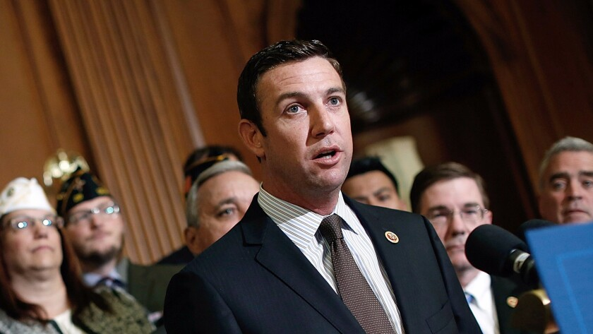 Rep. Duncan Hunter (R-Alpine) at a news conference at the U.S. Capitol in 2014.