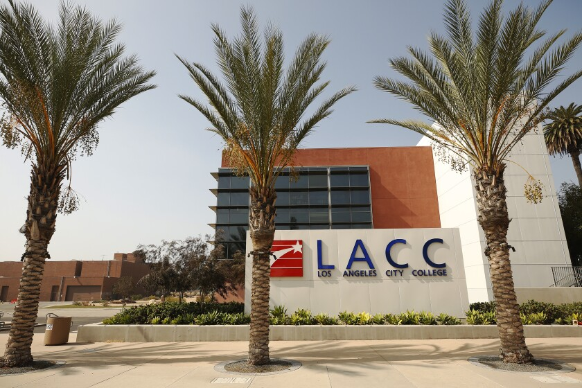 The entrance to Los Angeles City College.