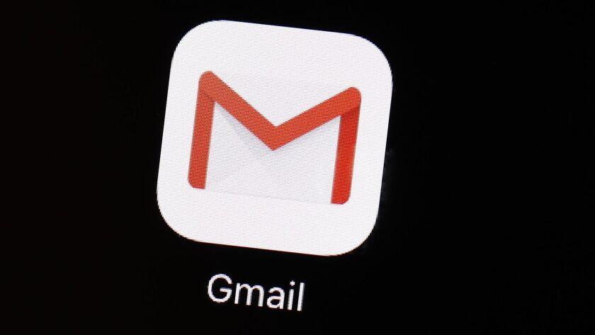 The Gmail app on an iPad