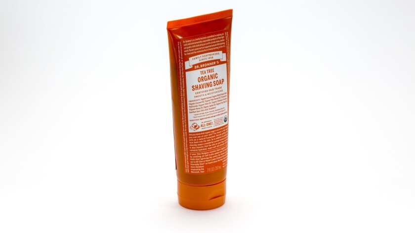 Tea Tree Organic Shaving Soap from Dr. Bronner's Magic Soaps.