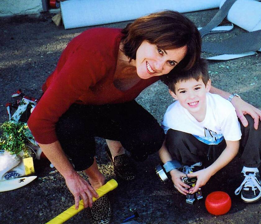 Susan Hoffman with her then 4-year-old grandson Jacob in December, 2001.