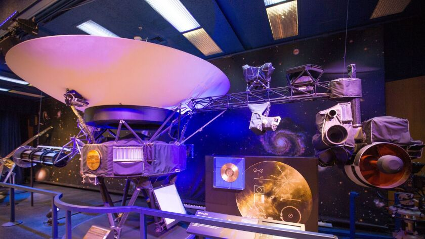 LA CA-ADA FLINTRIDGE, CALIF. -- WEDNESDAY, MAY 31, 2017: The Voyager is on display at JPL. Sue Fi