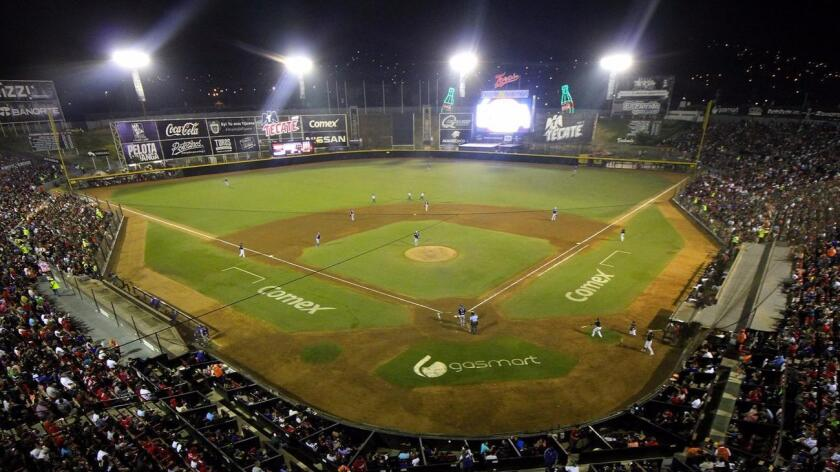 Estadio Gasmart, shown during Sunday's Mexican League playoff opener, is the home of the Toros de Tijuana. (Special to the Union-Tribune)