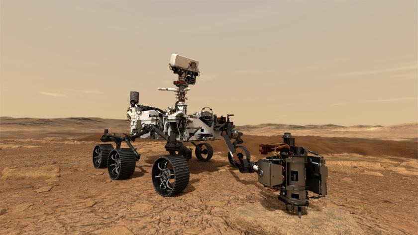 NASA's Mars 2020 rover drills a rock sample
