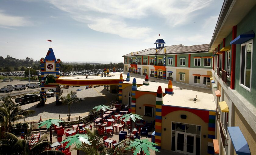 The 250-room Legoland Hotel is preparing to open April 5.