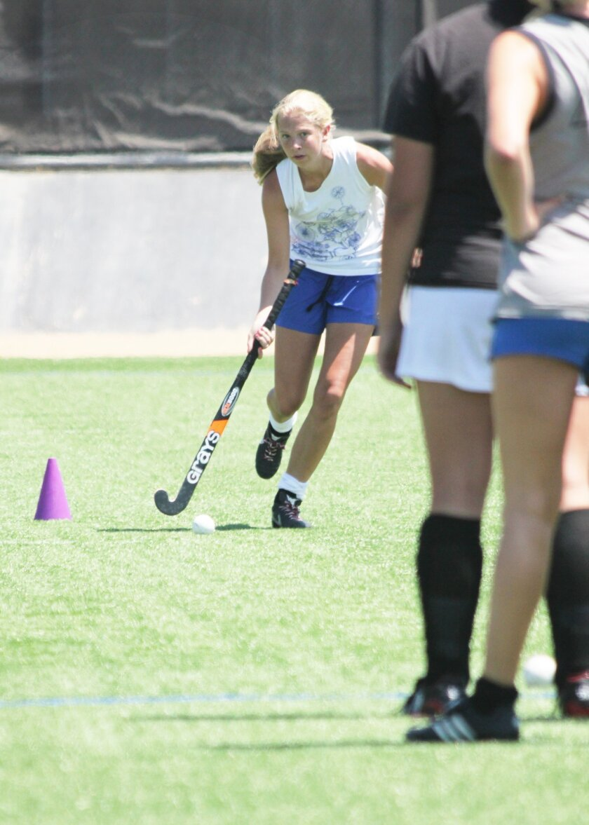 La Jolla High senior Aubrey Sloan goes through drills last week at Muirlands Middle School. Phil Dailey Photo