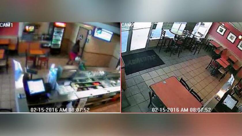 Un video divulgado por la policía de West Covina muestra a una mujer, identificada como Mary Grace Trinidad, entrando al baño de un restaurante Subway. La policía dice que la mujer dio a luz dentro del baño y salió 10 minutos después. Bomberos llegaron al lugar a pocos minutos de que el bebé fue encontrado.
