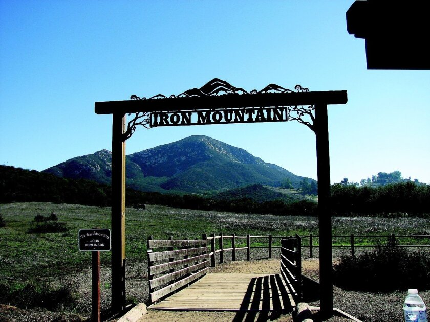 The entry to Iron Mountain trail in Poway.