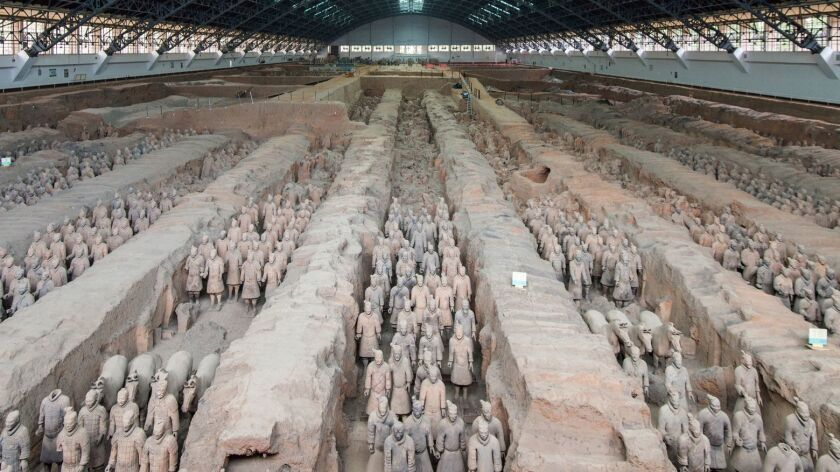 XI'AN, CHINA - Discovered only in 1974, the Terra Cotta Warriors of Xi'an are guardians for the maus