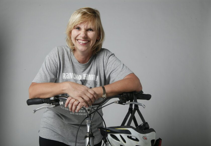 Christiane Staninger is a volunteer/mom helping with a 250-mile ride from Yuma to Carlsbad, leading sixth graders in a rigorous ride while camping along the way.