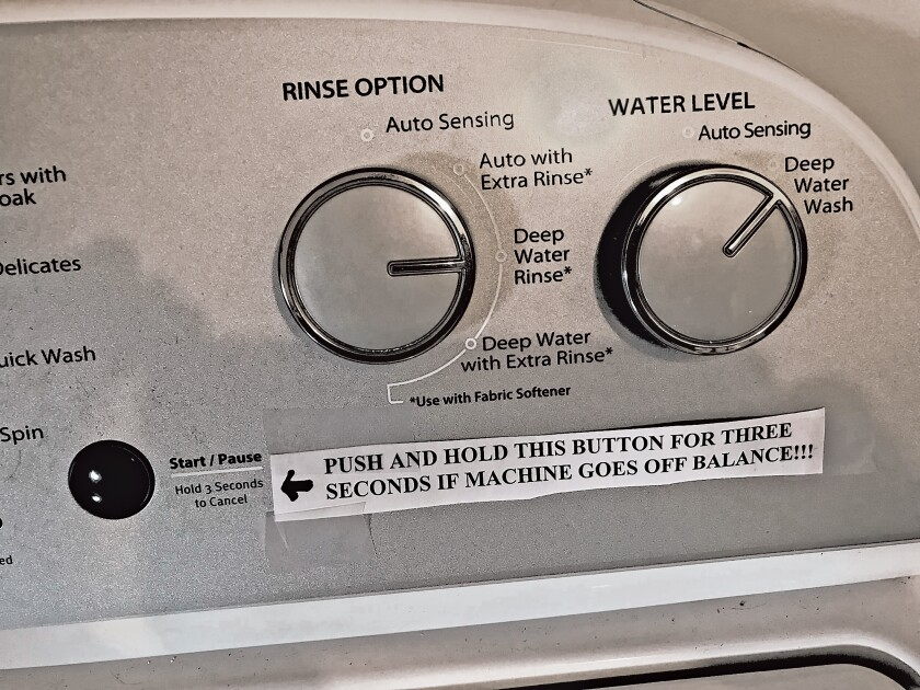 New washing machine: Spawn of the Devil model