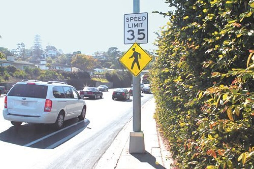 Have you noticed there are four different speed limits posted along Torrey Pines Road at different junctures, ranging 25-45 mph? Daniel K. Lew