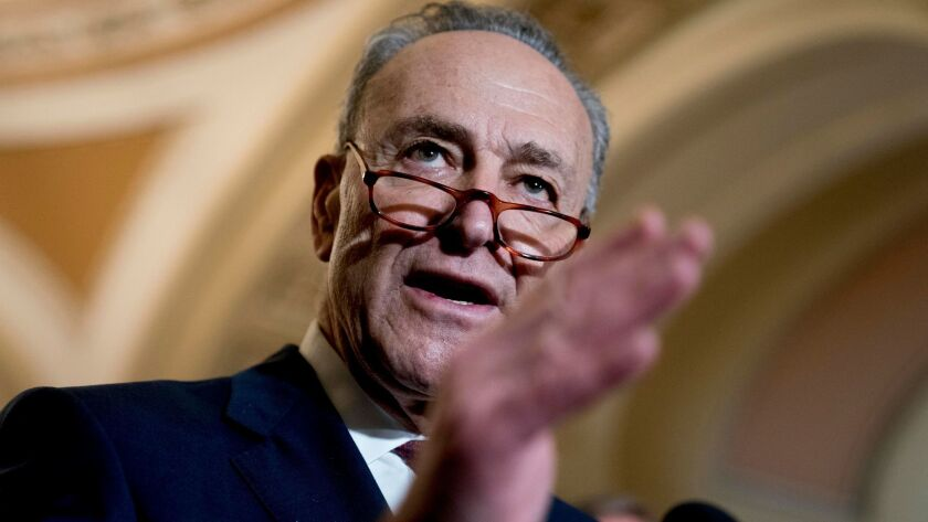 Senate Minority Leader Sen. Chuck Schumer had a warning for Justices Brett Kavanaugh and Neil Gorsuch.