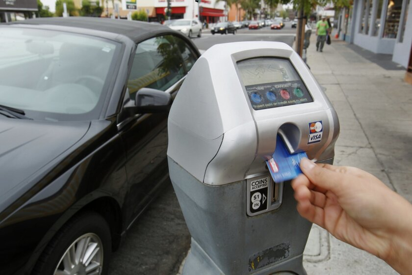 are parking meters free today in san diego