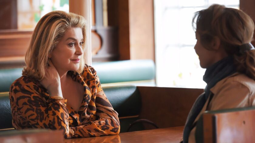 """The two great Catherines: Catherine Deneuve, left, and Catherine Frot in """"The Midwife."""""""