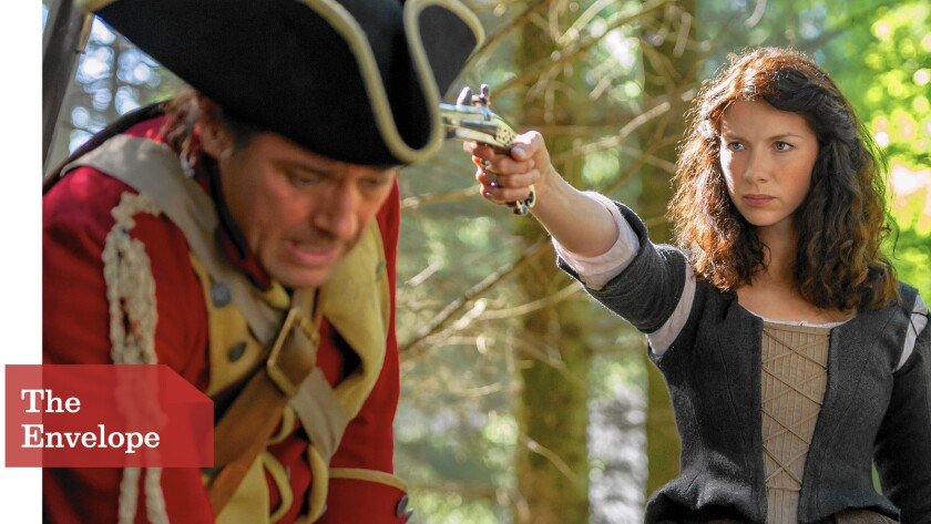 """Shoot, Caitriona Balfe could snare a Golden Globes nod for her work in """"Outlander."""" Her popular time-travel romantic fantasy is also gaining momentum in the drama series category."""