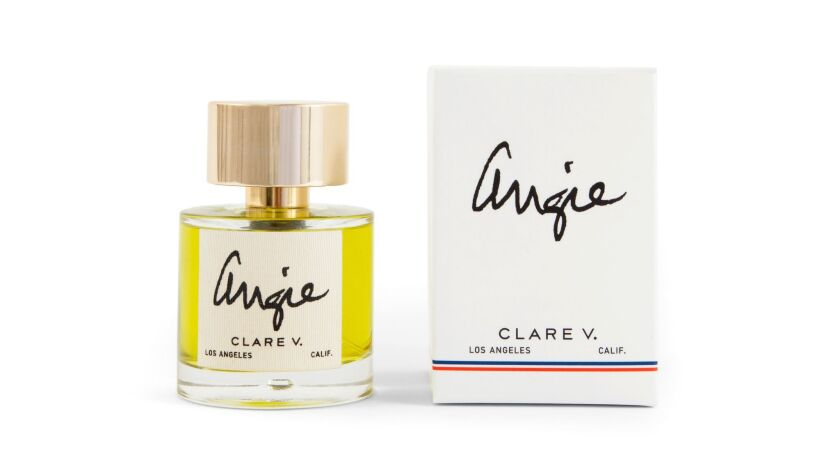 Angie, Clare Vivier's first fragrance, bears her middle name and the moniker her family calls her.