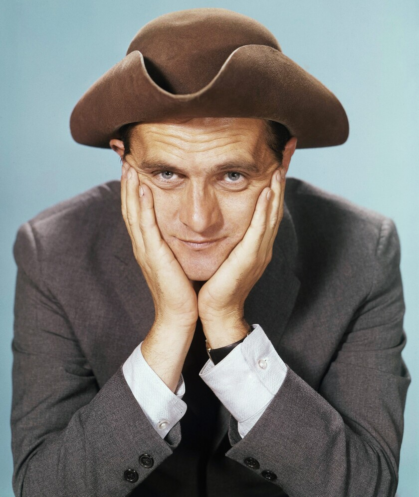 """""""Stand-up comedians are basically anarchists. They want to take the system and shake it all up,"""" says Bob Newhart, shown above in a 1962 photo."""