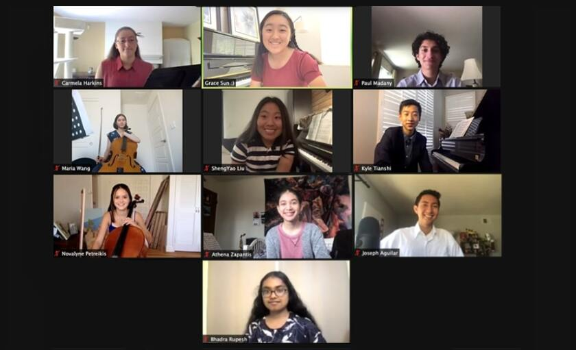 Melodies for Remedies members during a July virtual concert.