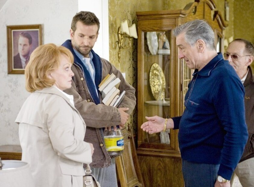 """IN """"Silver Linings Playbook,"""" Robert De Niro (with, from left, Jacki Weaver, Bradley Cooper, Paul Herman) plays a football-obsessed father."""