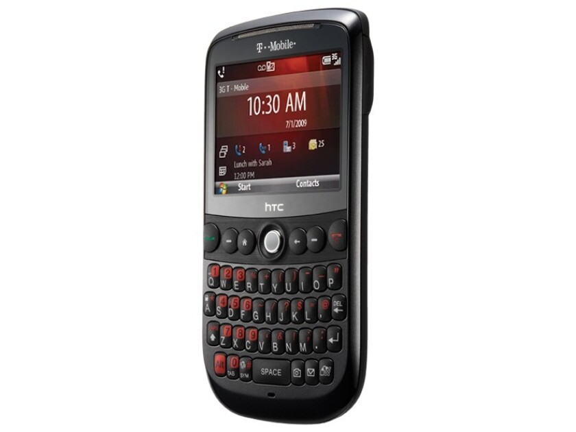 The HTC Dash 3G phone, running Windows Mobile 6.1.