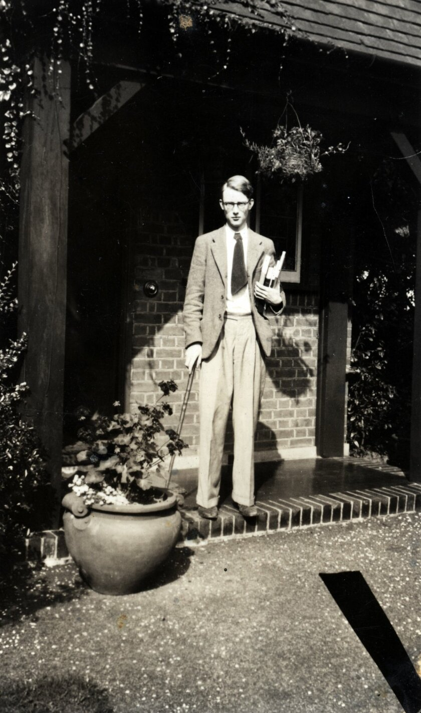 Francis Crick at Mill Hill, London.