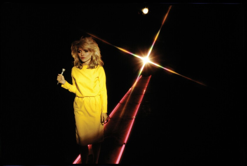 """Debbie Harry during the video shoot for """"Picture This"""" circa 1978."""