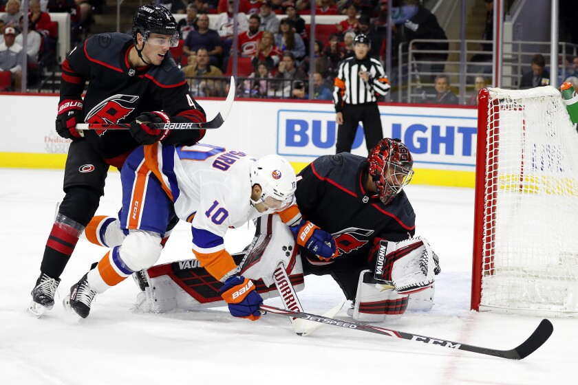 Islanders Hurricanes Hockey