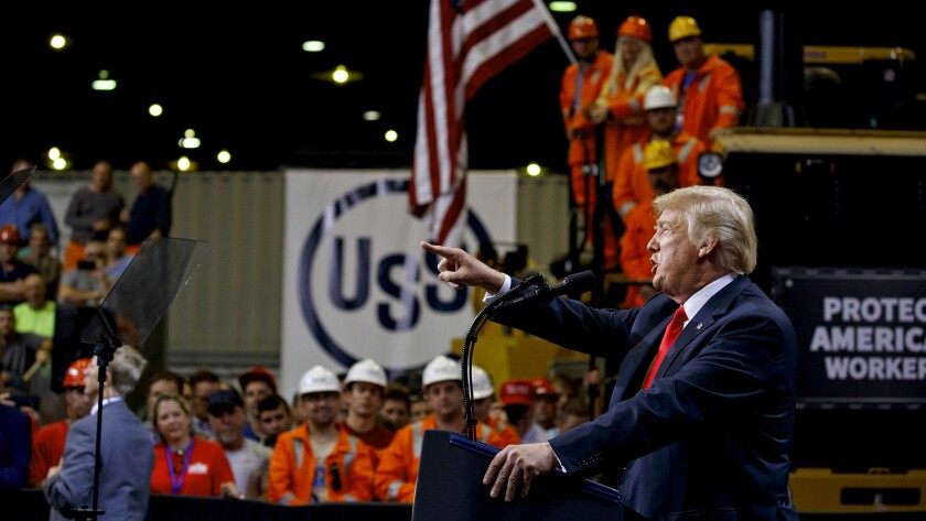 President Trump boasts he's turned around American industry. With the election at hand, here are the facts.