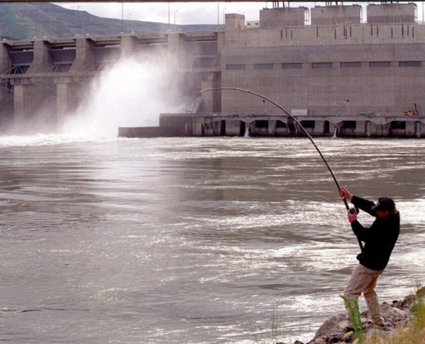 The Lower Granite Dam on the Snake River was one of four dams proposed for removal to save threatened salmon runs.