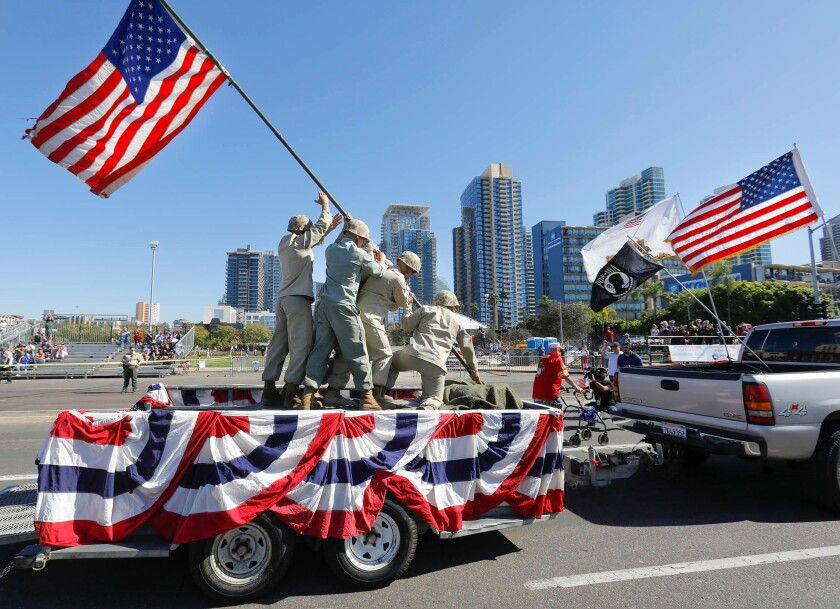 A photo of San Diego Veterans Day Parade