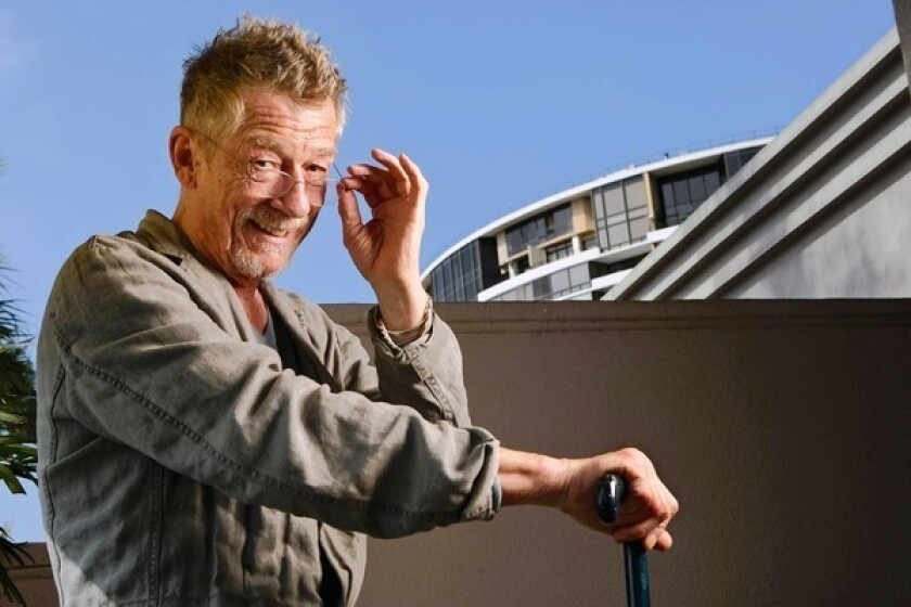 John Hurt plays back 'interrupted pause' of 'Krapp's Last Tape'