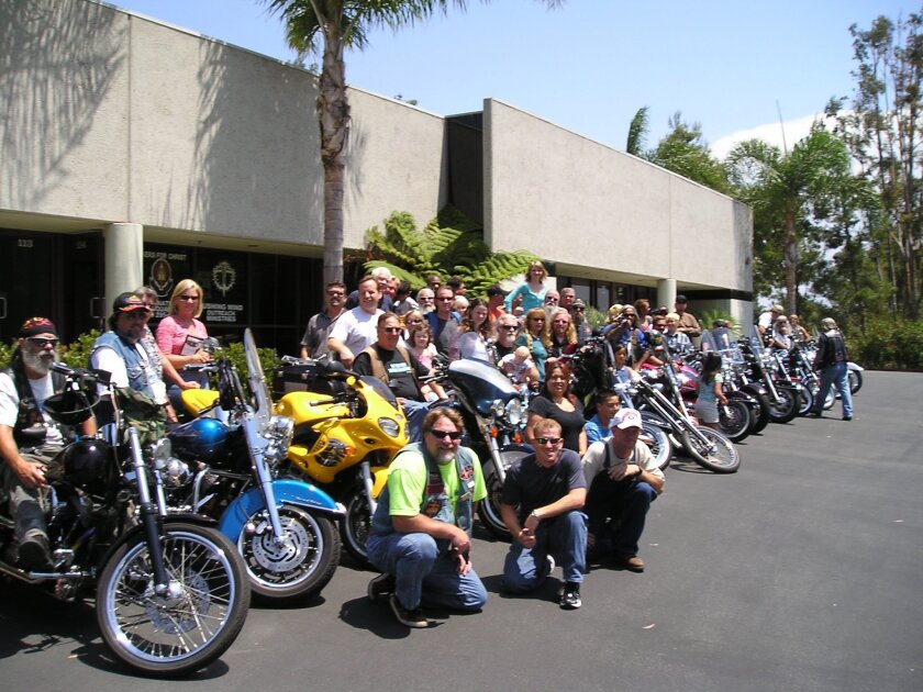 Motorcycle riders gather at a Bike Blessings and Benefit Rally. Courtesy of Bikers for Christ.