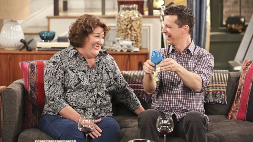 """Margo Martindale and Sean Hayes in """"The Millers"""" on CBS."""