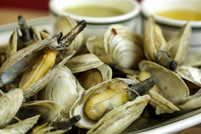 Steamers are clams served with drawn butter and clam broth.