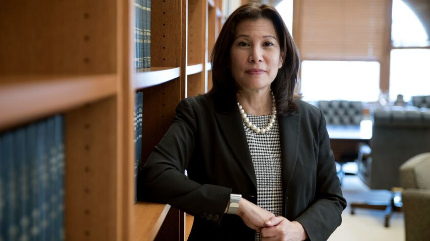 MAY 3, 2017 SAN FRANCISCO, CA California Supreme Court Chief Justice Tani Cantil-Sakauye speaks in h
