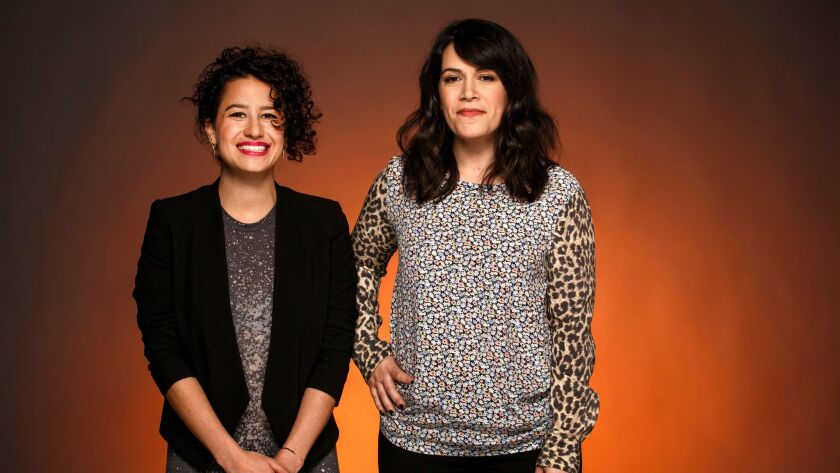 "Actors Ilana Glazer, left, and Abbi Jacobson of Comedy Central's ""Broad City."""