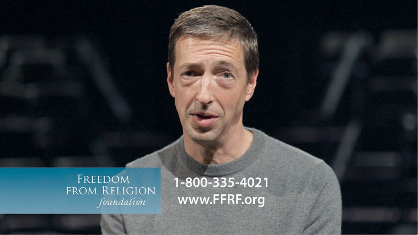 Ron Reagan, the son of President Reagan, who helped inspire the religious right, stars in a 30-second TV spot for the Freedom From Religion Foundation, a group of atheists, agnostics and other freethinkers.