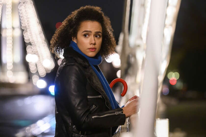 """Nathalie Emmanuel in Hulu's """"Four Weddings and a Funeral"""""""