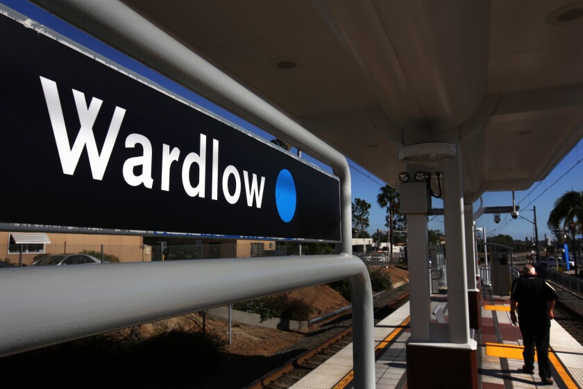 Wardlow Station in Long Beach is seen in September. A fatal stabbing occurred at the station early Friday morning.